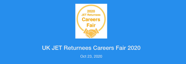 UK JET Returnees Online Careers Fair 23rd Oct 2020